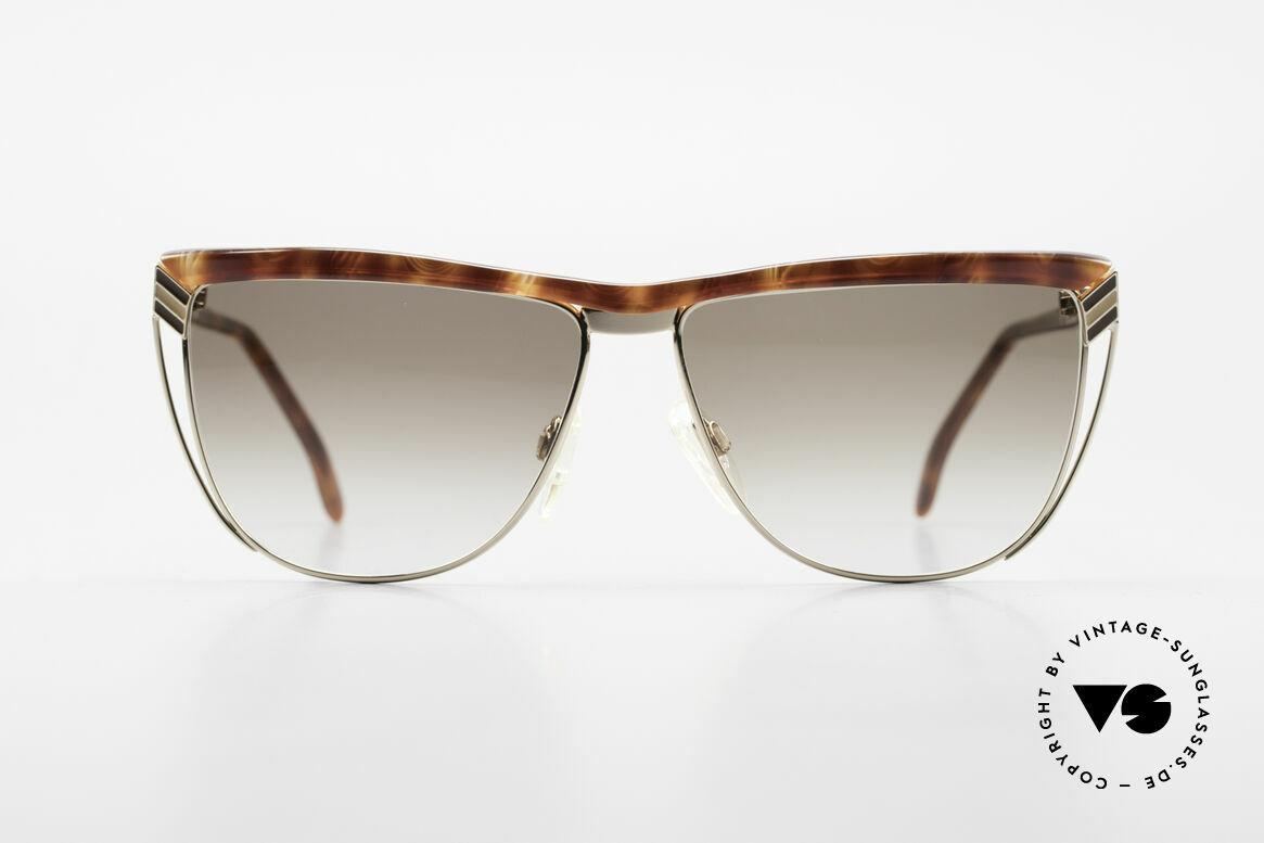 Gucci 2300 Damen Designer Sonnenbrille, Bügel mit dem berühmten Symbol (die 2 Steigbügel), Passend für Damen