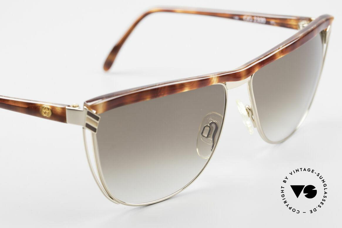 Gucci 2300 Damen Designer Sonnenbrille, KEINE RETRObrille, sondern echte 1980er Jahre Ware, Passend für Damen