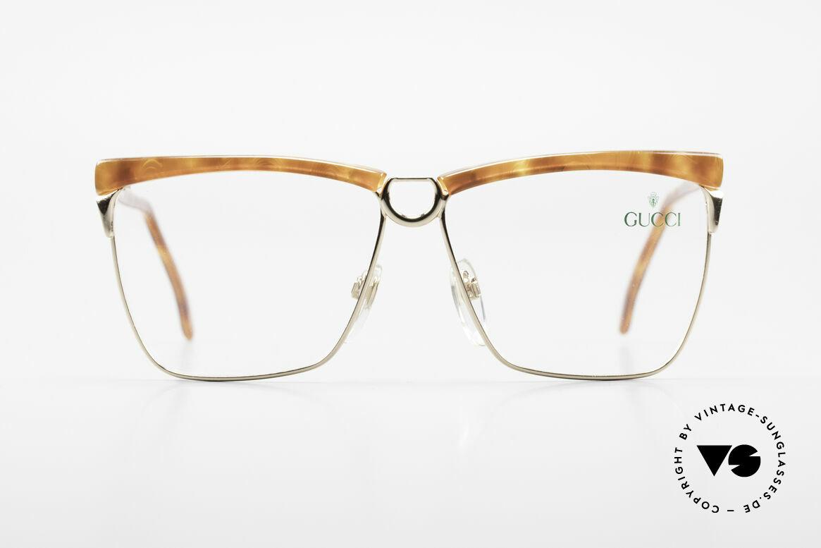 Gucci 2301 Vintage Designer Damenbrille, vintage 1980er Brille von GUCCI in Schildpatt-Optik, Passend für Damen