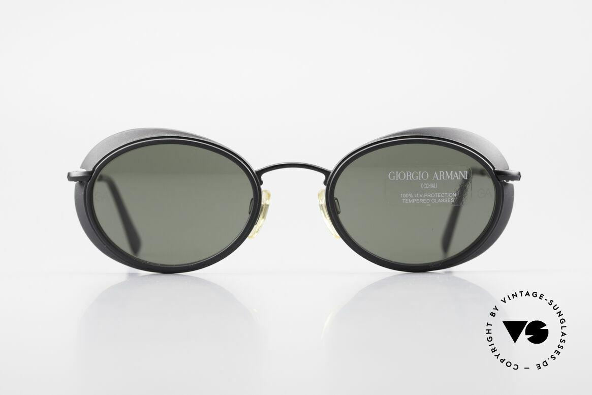 Giorgio Armani 666 Sonnenschutz Blenden Brille, Armani DesignerSonnenbrille mit kleinen Seitenblenden, Passend für Herren und Damen
