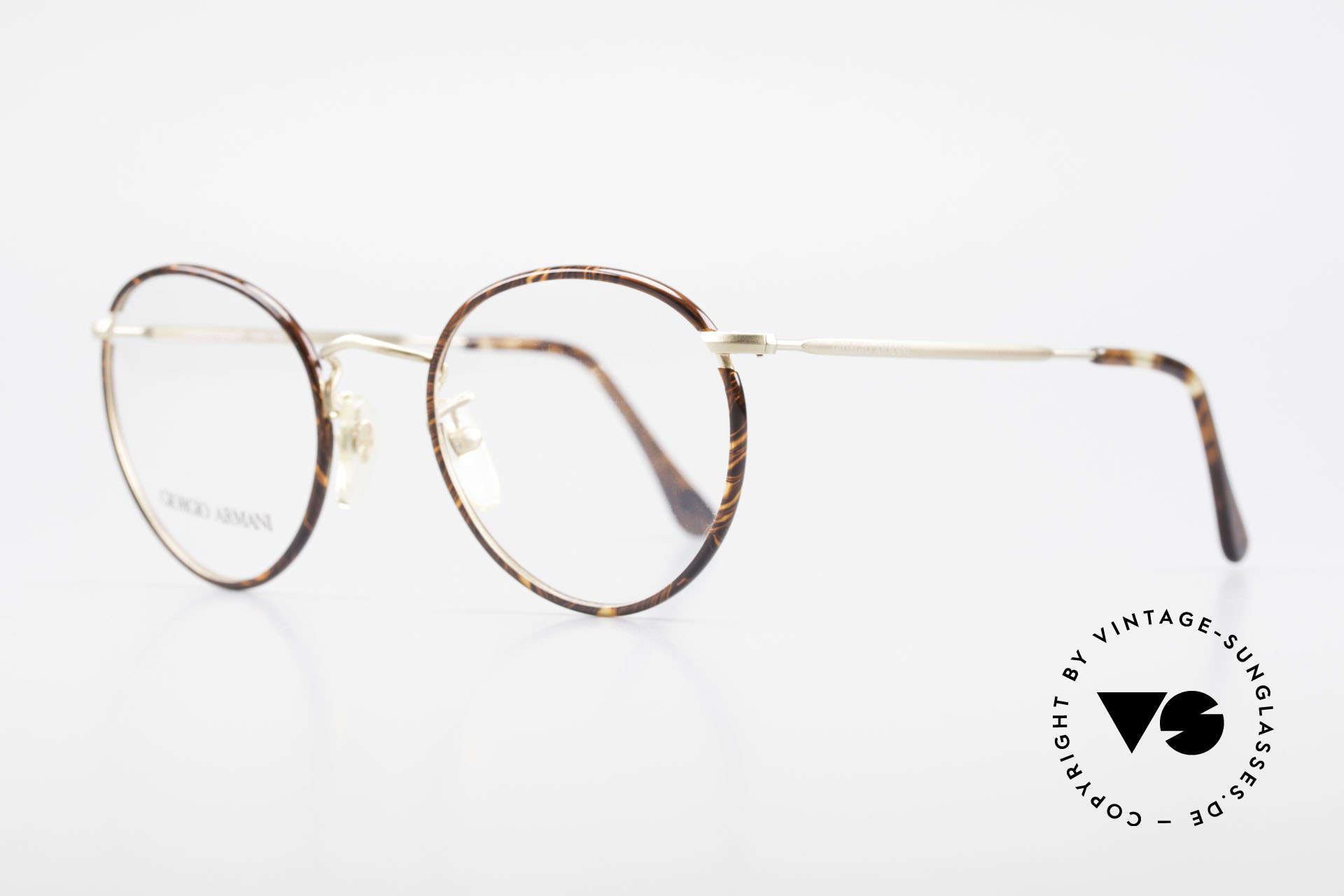 Giorgio Armani 112 90er Panto Fassung Herren, wahre 'Gentlemen-Brille' in fühlbarer TOP-Qualität, Passend für Herren