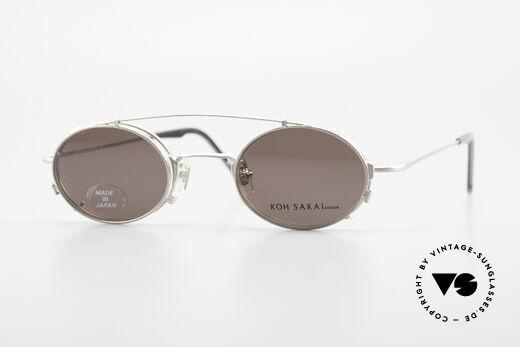 Koh Sakai KS9711 Kleine Ovale Brille mit Clip Details
