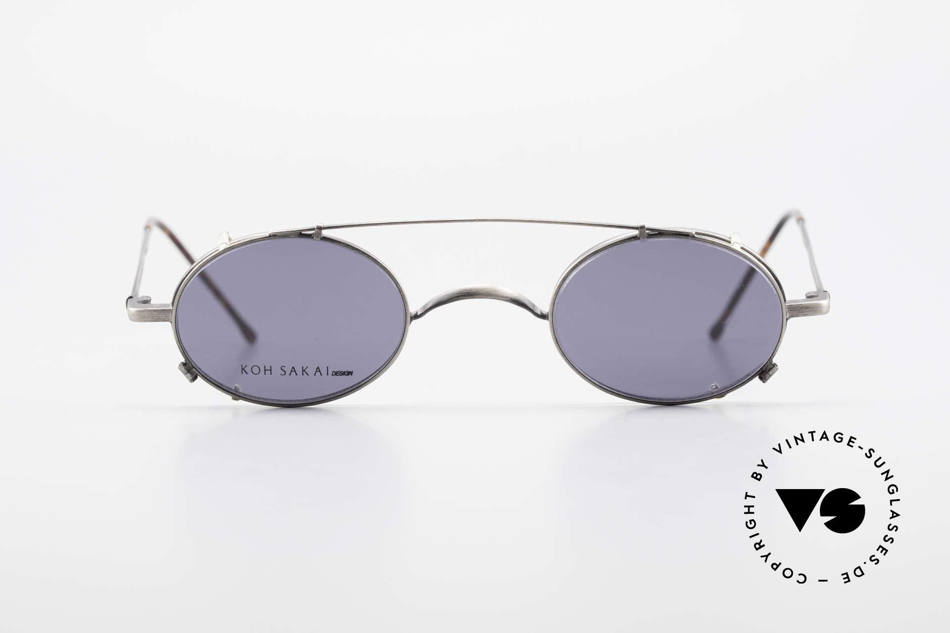Koh Sakai KS9591 Kleine Ovale Fassung mit Clip, Koh Sakai, BADA und OKIO Brillen waren ein Vertrieb, Passend für Herren und Damen