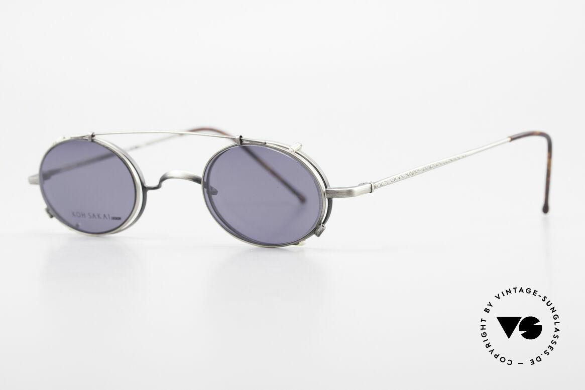 Koh Sakai KS9591 Kleine Ovale Fassung mit Clip, in Los Angeles designed & in Sabae (Japan) produziert, Passend für Herren und Damen