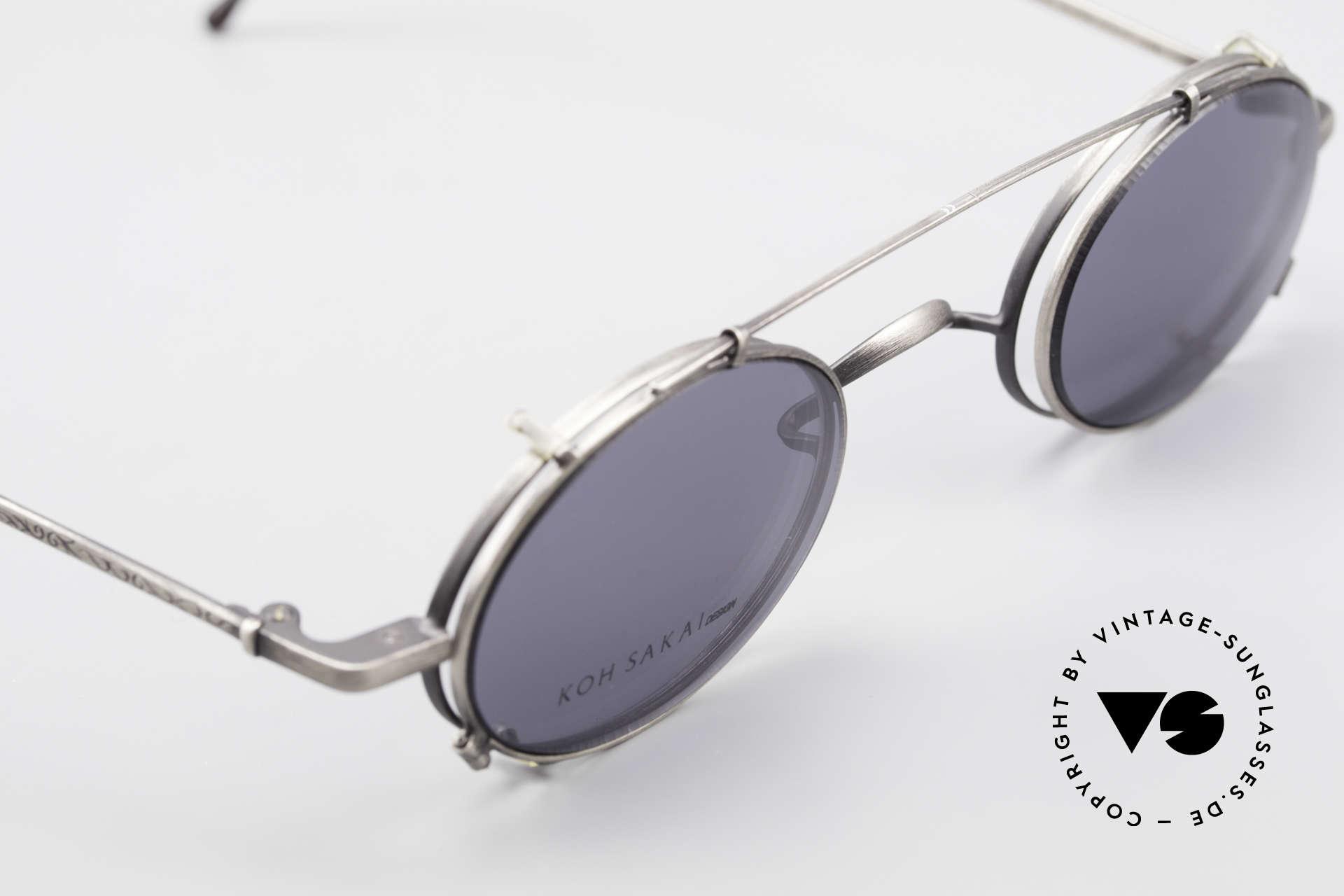 Koh Sakai KS9591 Kleine Ovale Fassung mit Clip, entsprechend sind Qualität & Anmutung identisch top, Passend für Herren und Damen