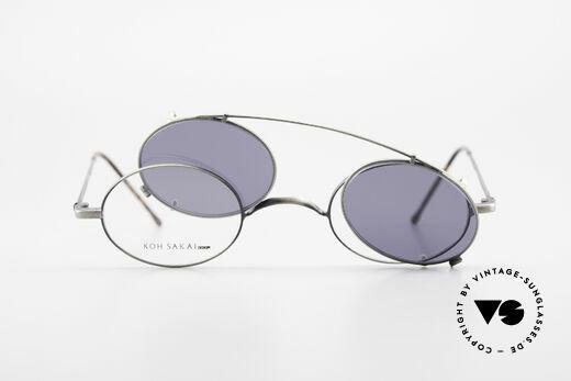 Koh Sakai KS9591 Kleine Ovale Fassung mit Clip, ungetragen (wie alle unsere alten LA + Sabae Brillen), Passend für Herren und Damen