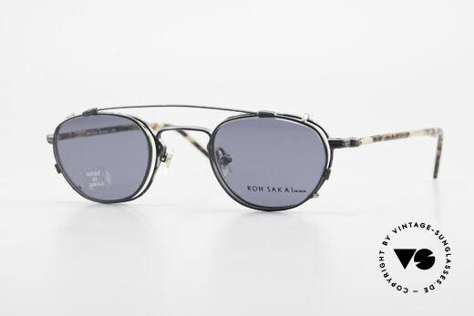 Koh Sakai KS9408 Kleine Brille mit Sonnenclip Details