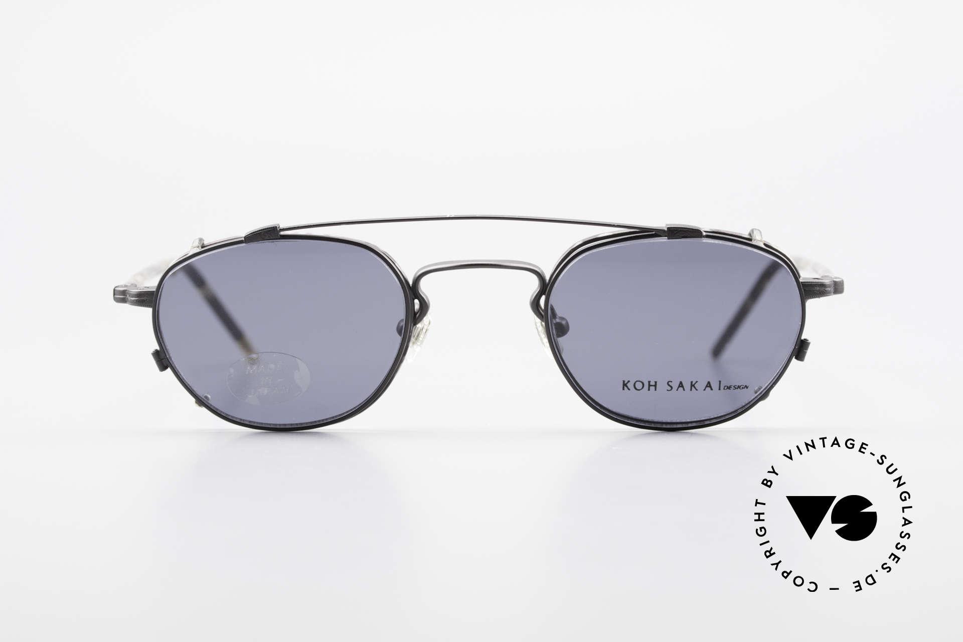Koh Sakai KS9408 Kleine Brille mit Sonnenclip, Koh Sakai, BADA und OKIO Brillen waren ein Vertrieb, Passend für Herren und Damen