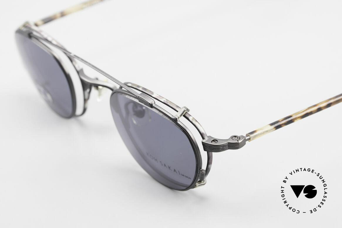 Koh Sakai KS9408 Kleine Brille mit Sonnenclip, aus dem gleichen Werk wie Oliver Peoples und Eyevan, Passend für Herren und Damen