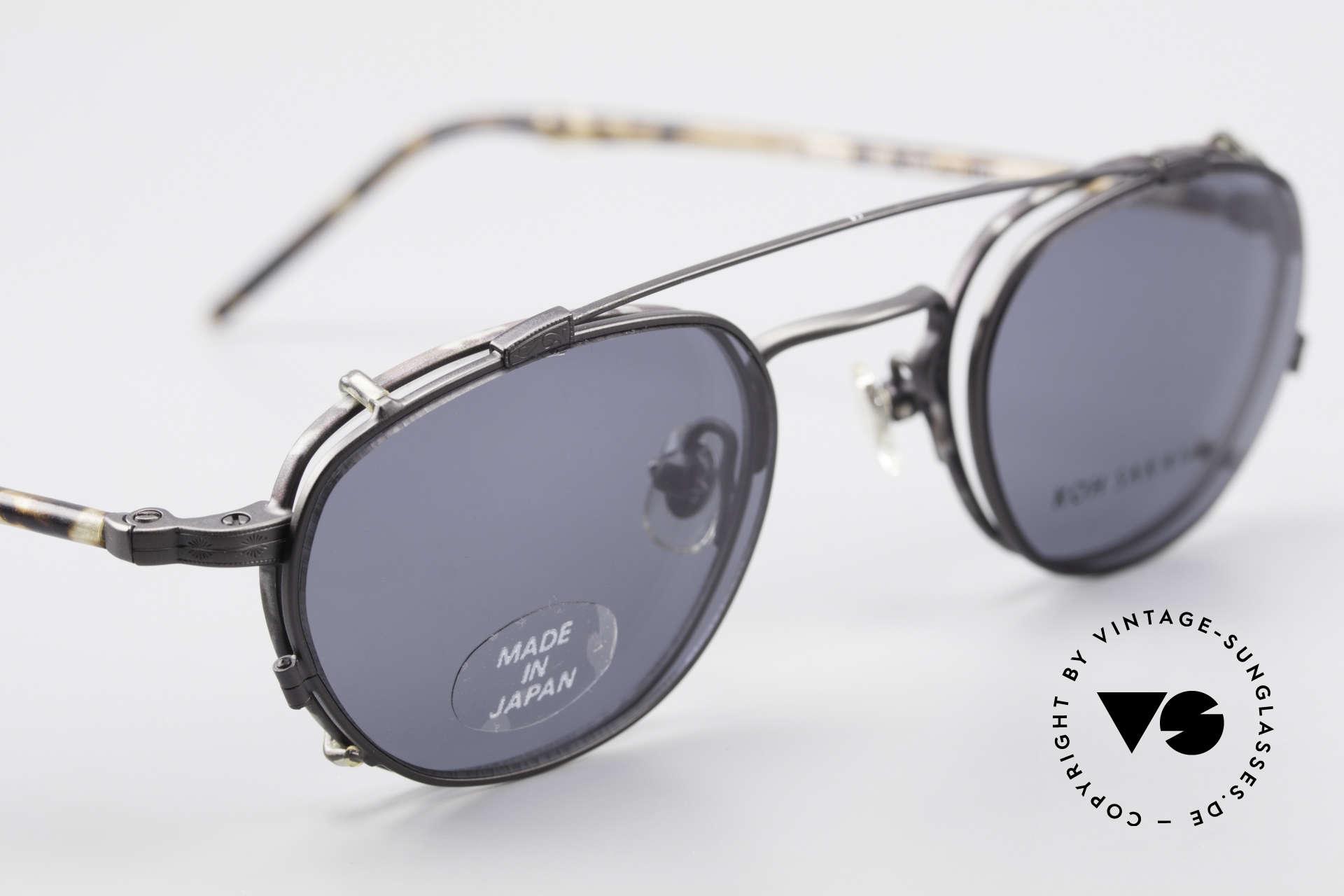 Koh Sakai KS9408 Kleine Brille mit Sonnenclip, entsprechend sind Qualität & Anmutung identisch top, Passend für Herren und Damen