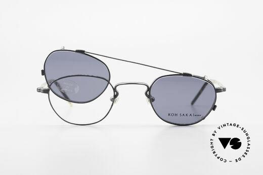 Koh Sakai KS9408 Kleine Brille mit Sonnenclip, ungetragen (wie alle unsere alten LA + Sabae Brillen), Passend für Herren und Damen