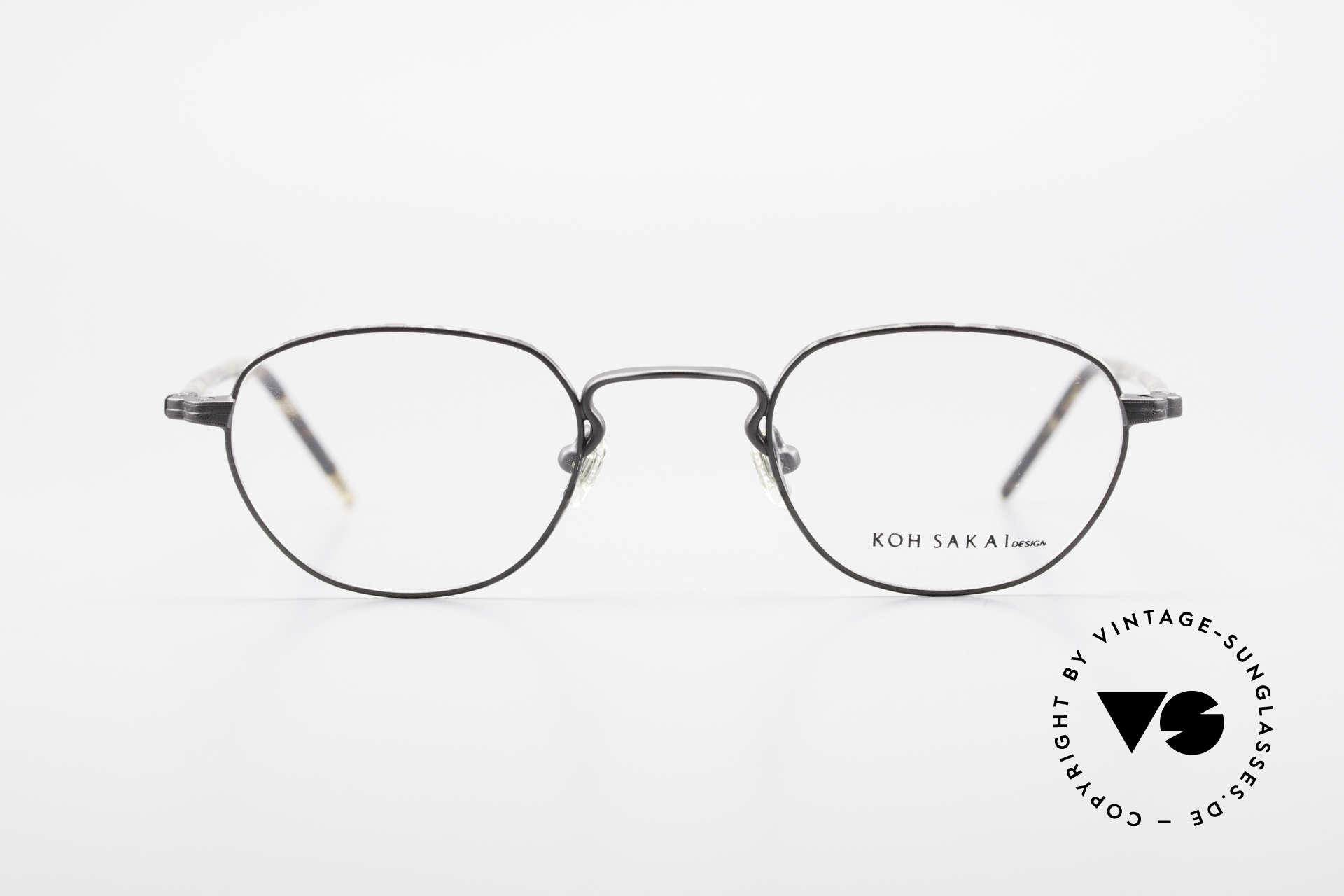 Koh Sakai KS9408 Kleine Brille mit Sonnenclip, Größe: small, Passend für Herren und Damen