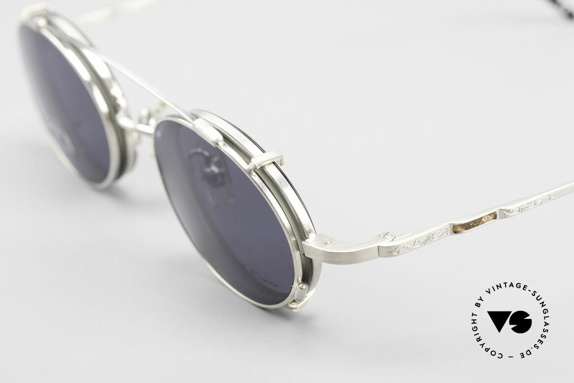 Koh Sakai KS9831 90er Brille Oval Made in Japan, aus dem gleichen Werk wie Oliver Peoples und Eyevan, Passend für Herren