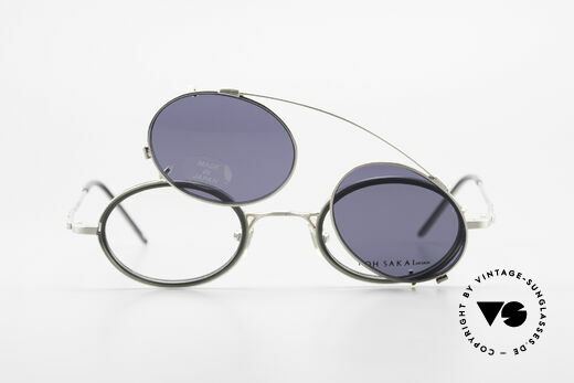 Koh Sakai KS9831 90er Brille Oval Made in Japan, ungetragen (wie alle unsere alten LA + Sabae Brillen), Passend für Herren