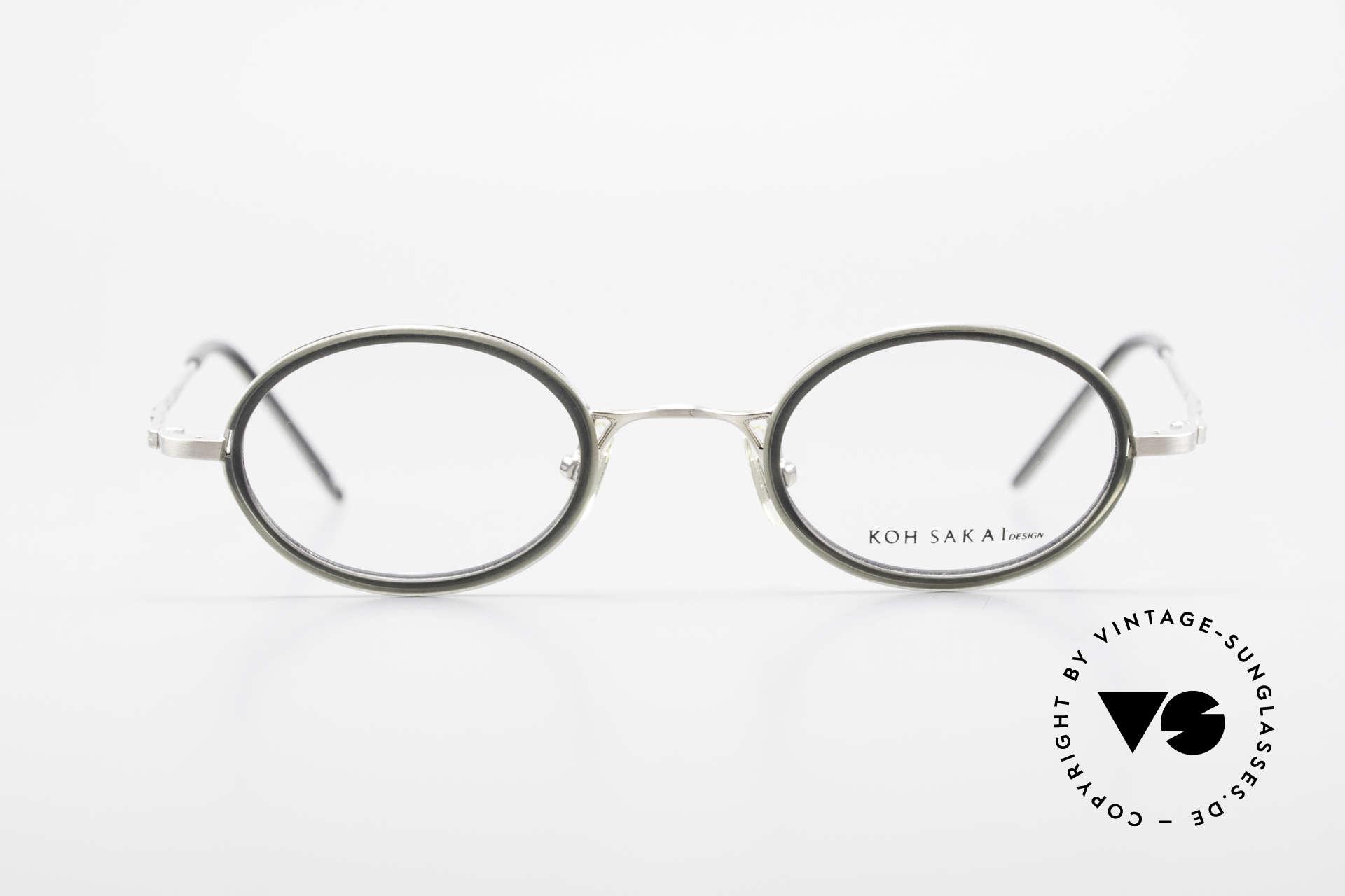Koh Sakai KS9831 90er Brille Oval Made in Japan, Größe: medium, Passend für Herren