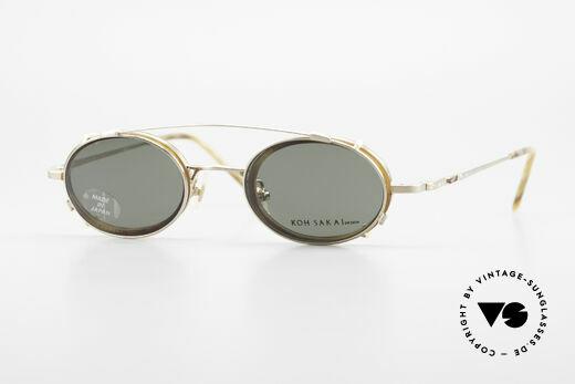 Koh Sakai KS9831 90er Brille Made in Japan Oval Details