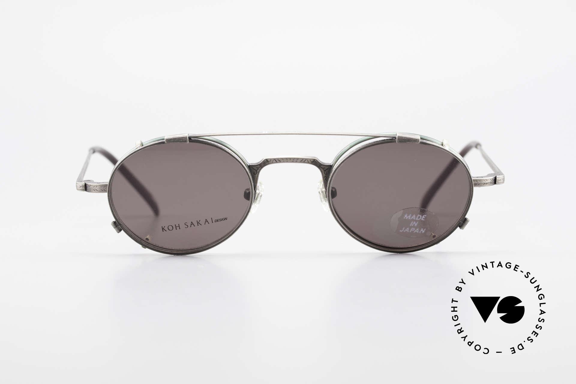 Koh Sakai KS9301 90er Oliver Peoples Eyevan Stil, Koh Sakai, BADA und OKIO Brillen waren ein Vertrieb, Passend für Herren