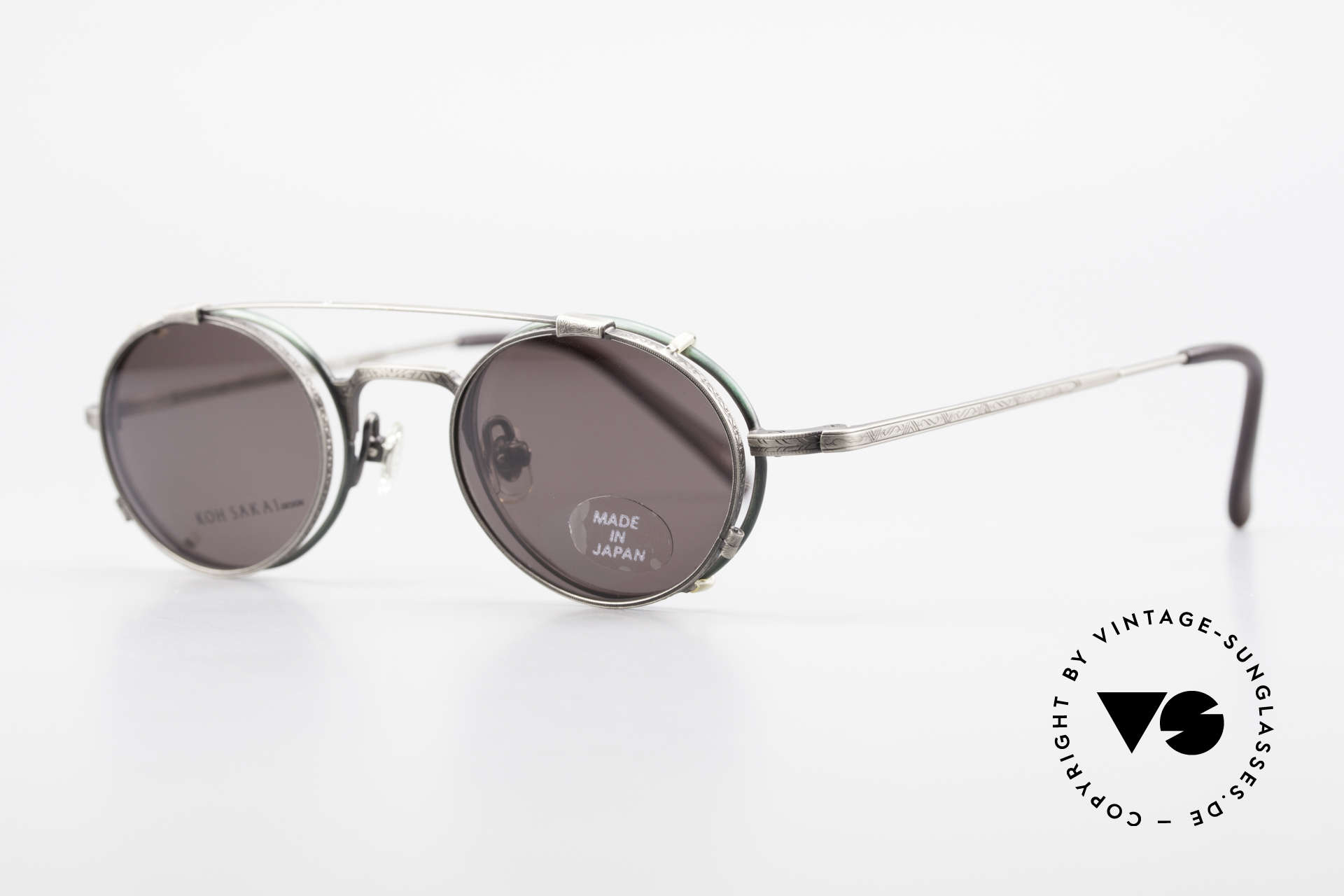 Koh Sakai KS9301 90er Oliver Peoples Eyevan Stil, in Los Angeles designed & in Sabae (Japan) produziert, Passend für Herren