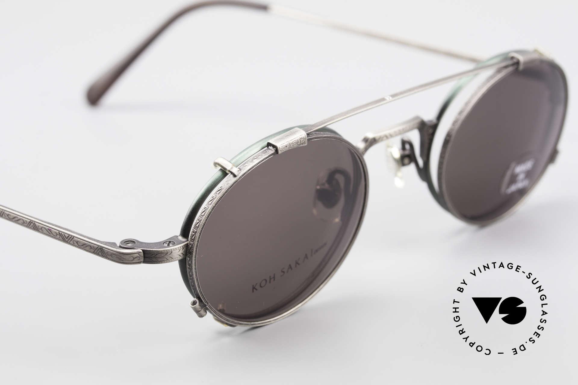 Koh Sakai KS9301 90er Oliver Peoples Eyevan Stil, ungetragen (wie alle unsere alten LA + Sabae Brillen), Passend für Herren