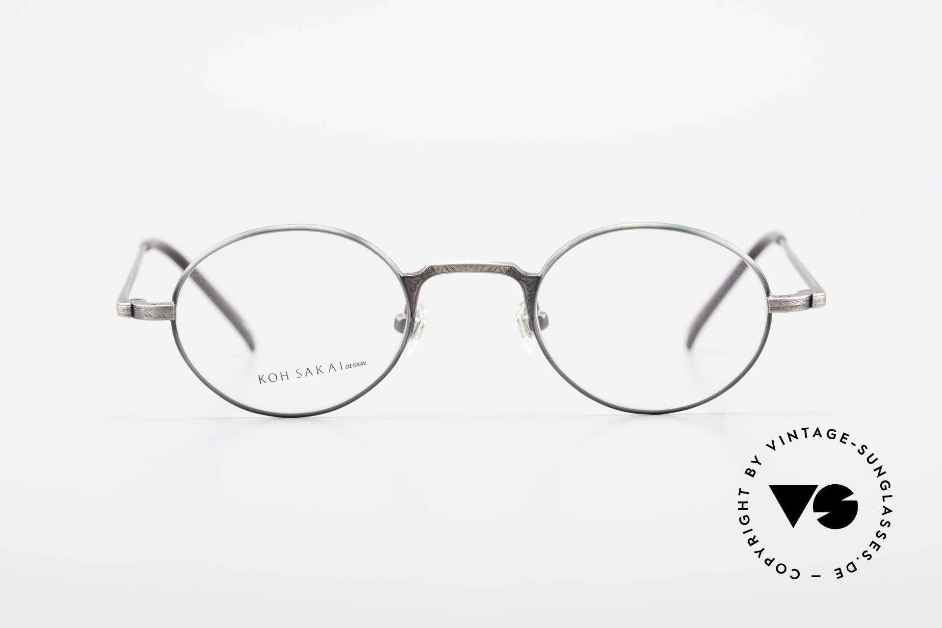 Koh Sakai KS9301 90er Oliver Peoples Eyevan Stil, Größe: small, Passend für Herren