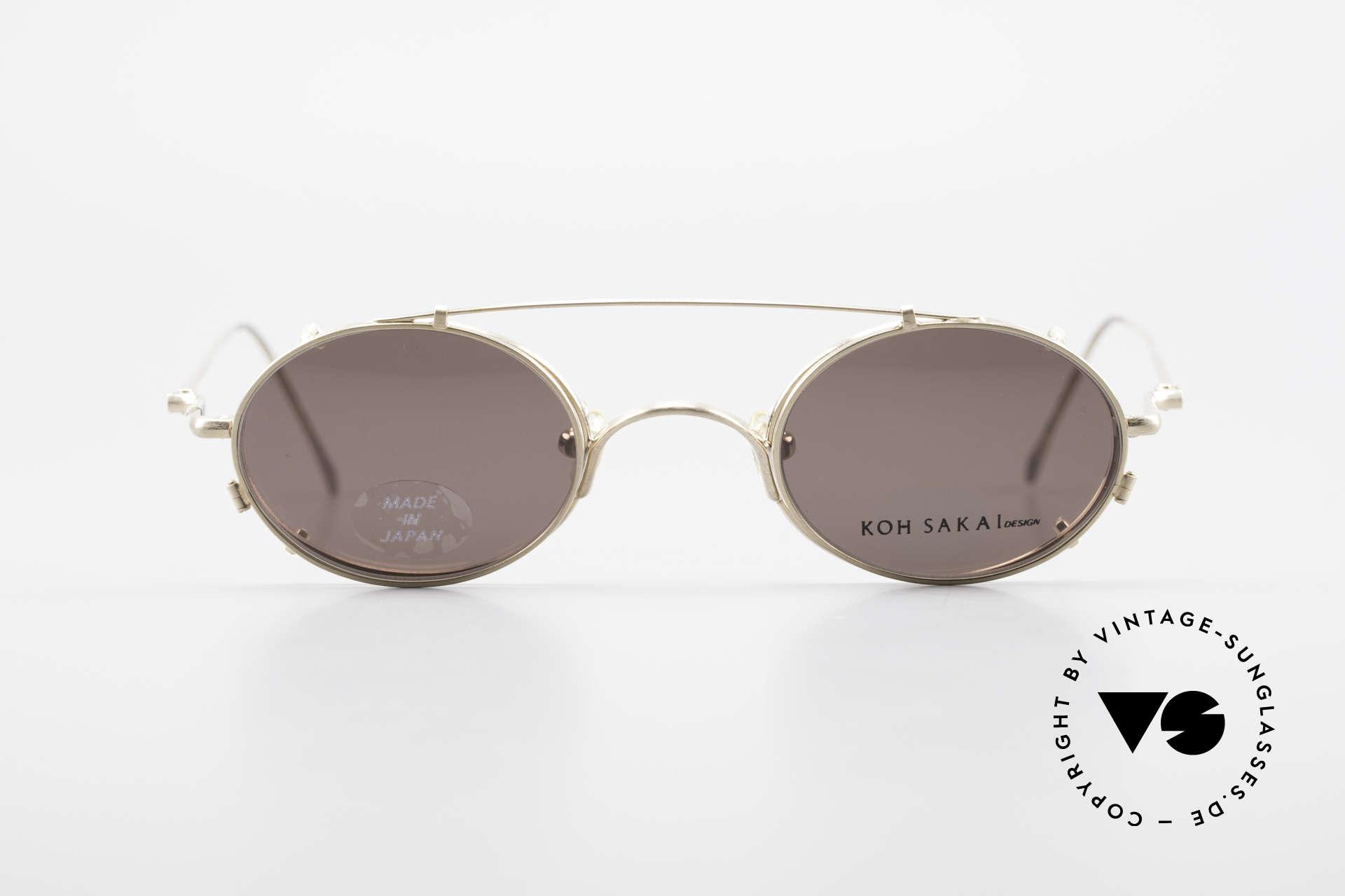 Koh Sakai KS9541 Ovale Brille Made in Japan 90er, Koh Sakai, BADA und OKIO Brillen waren ein Vertrieb, Passend für Herren und Damen