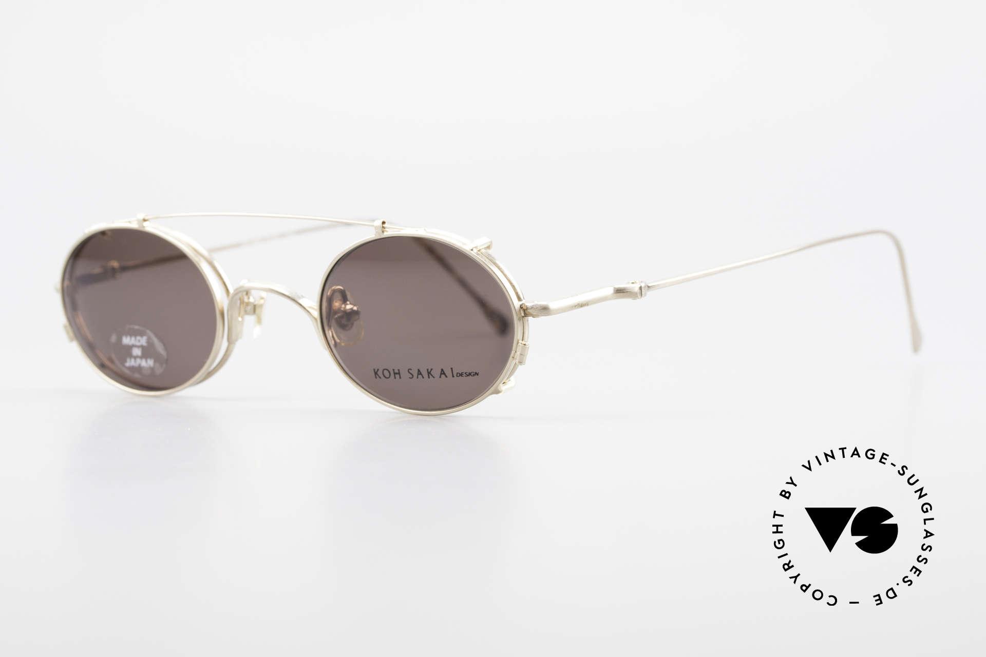 Koh Sakai KS9541 Ovale Brille Made in Japan 90er, in Los Angeles designed & in Sabae (Japan) produziert, Passend für Herren und Damen
