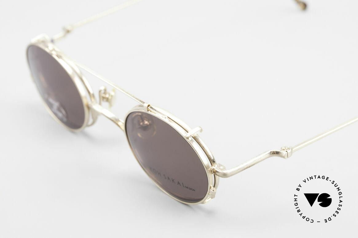 Koh Sakai KS9541 Ovale Brille Made in Japan 90er, aus dem gleichen Werk wie Oliver Peoples und Eyevan, Passend für Herren und Damen