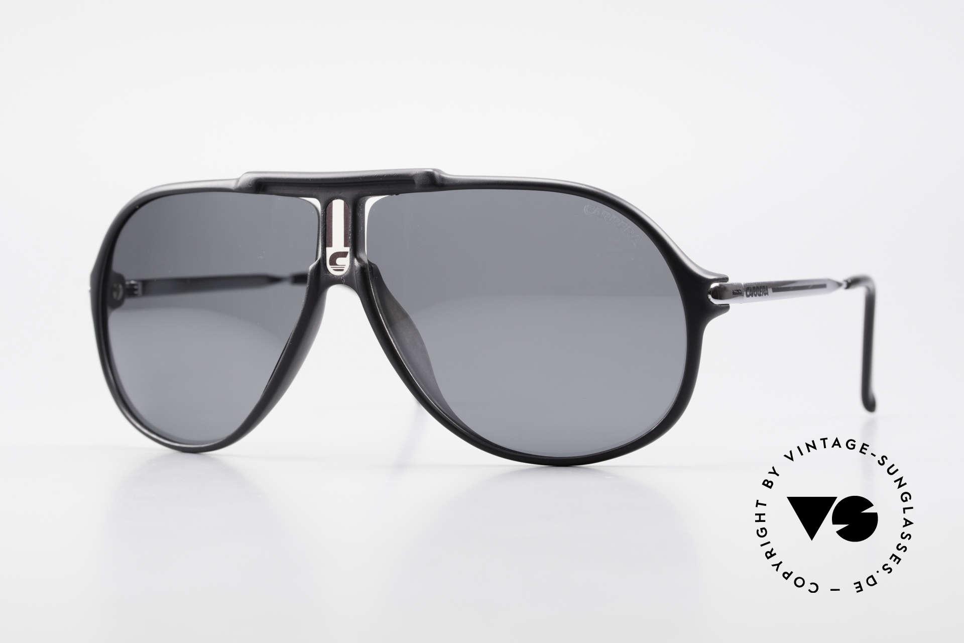 Carrera 5590 Polarisierende Sonnenbrille, sportlich elegante 80er Jahre CARRERA Aviator-Brille, Passend für Herren