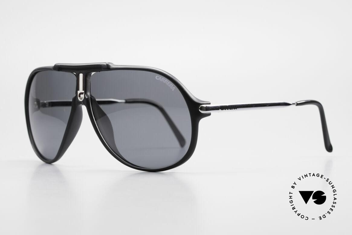 Carrera 5590 Polarisierende Sonnenbrille, 2 Paar Gläser: grau-POLARisierend und braun-Verlauf, Passend für Herren