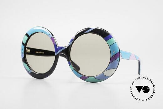 Emilio Pucci XXL Übergroße 60er Sonnenbrille Details