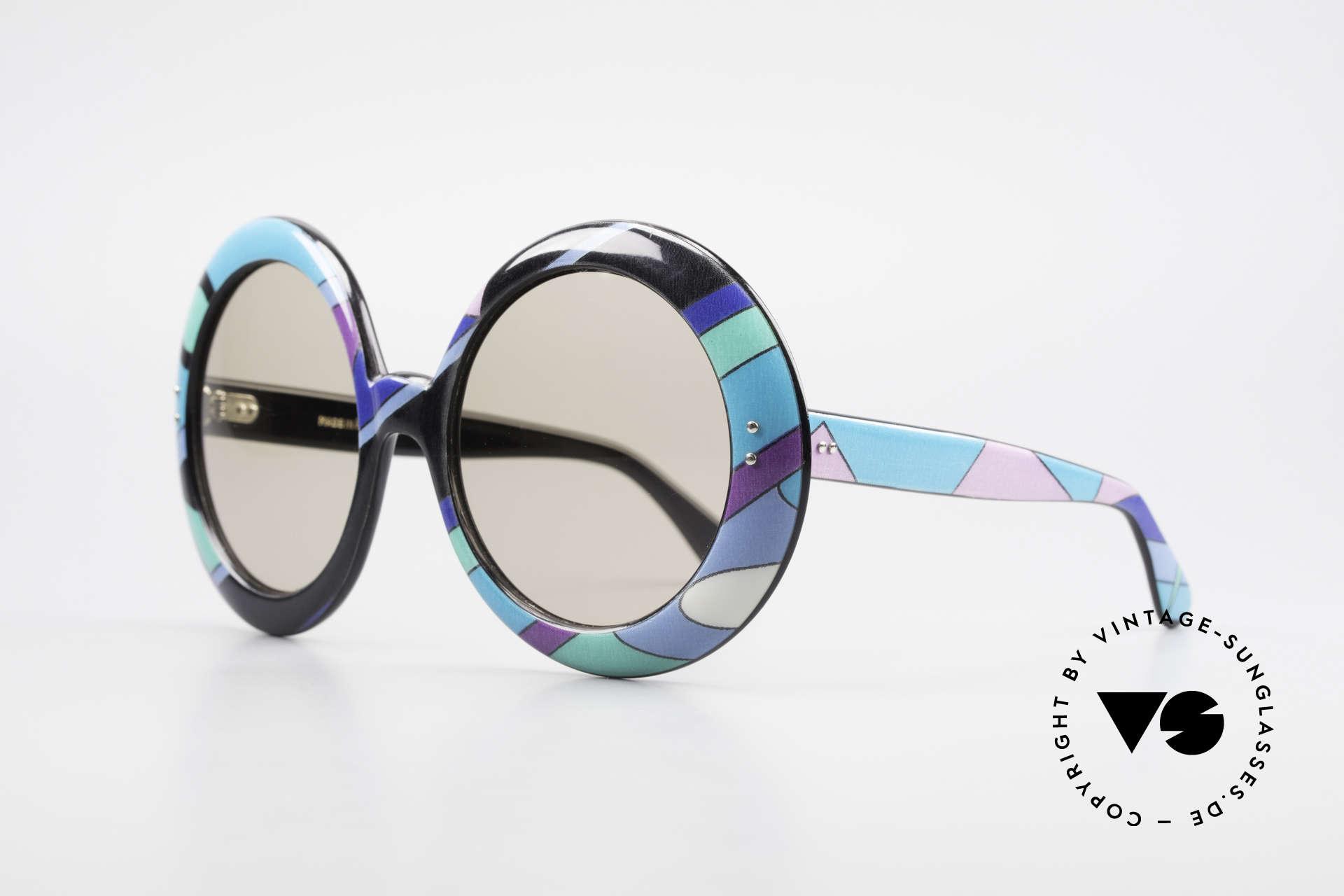 Emilio Pucci XXL Übergroße 60er Sonnenbrille, Stars wie Sophia Loren, Grace Kelly, Marilyn Monroe ..., Passend für Damen