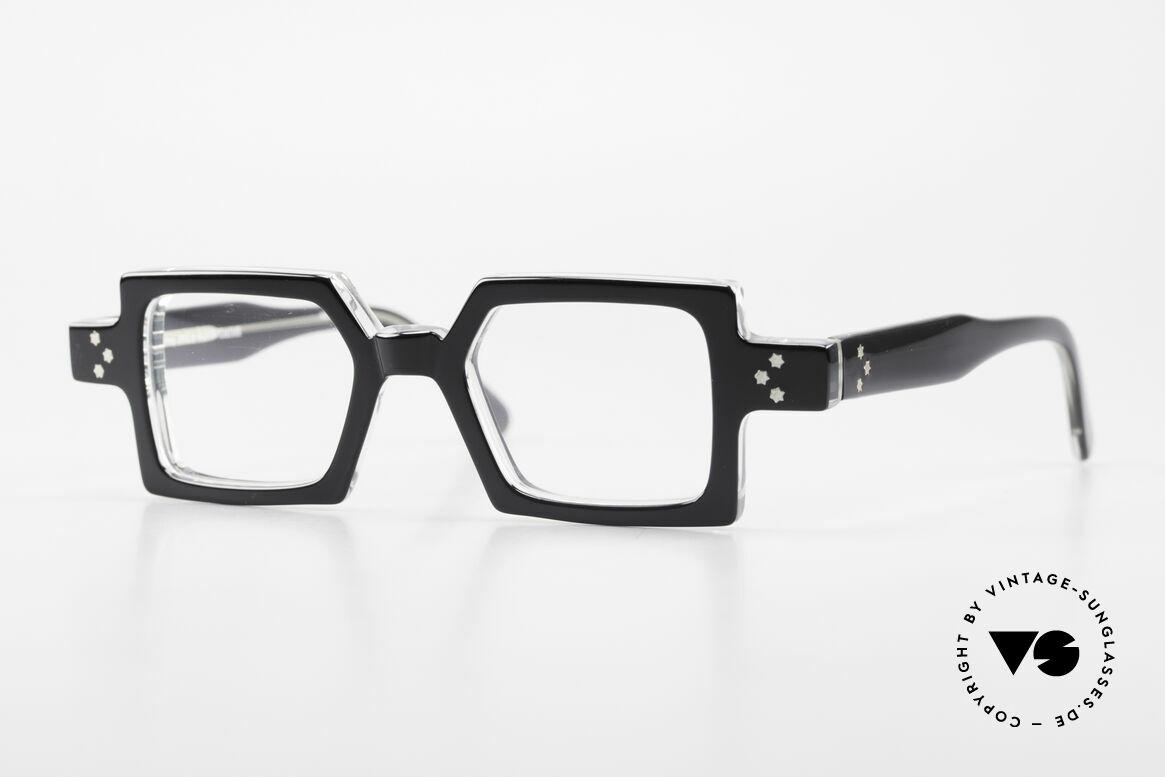 Anne Et Valentin Chico Alte 80er Brille Eckig Markant, alte vintage Brille von 'Anne Et Valentin' aus Toulouse, Passend für Herren und Damen
