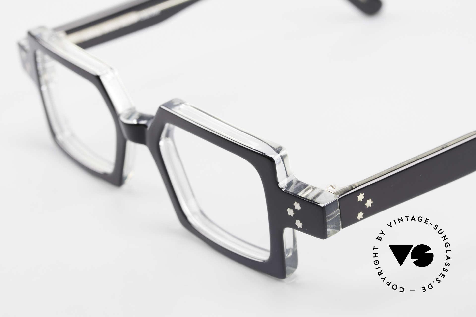 Anne Et Valentin Chico Alte 80er Brille Eckig Markant, aus Energie, Licht, Material, Linie, Kontrast und Farbe, Passend für Herren und Damen