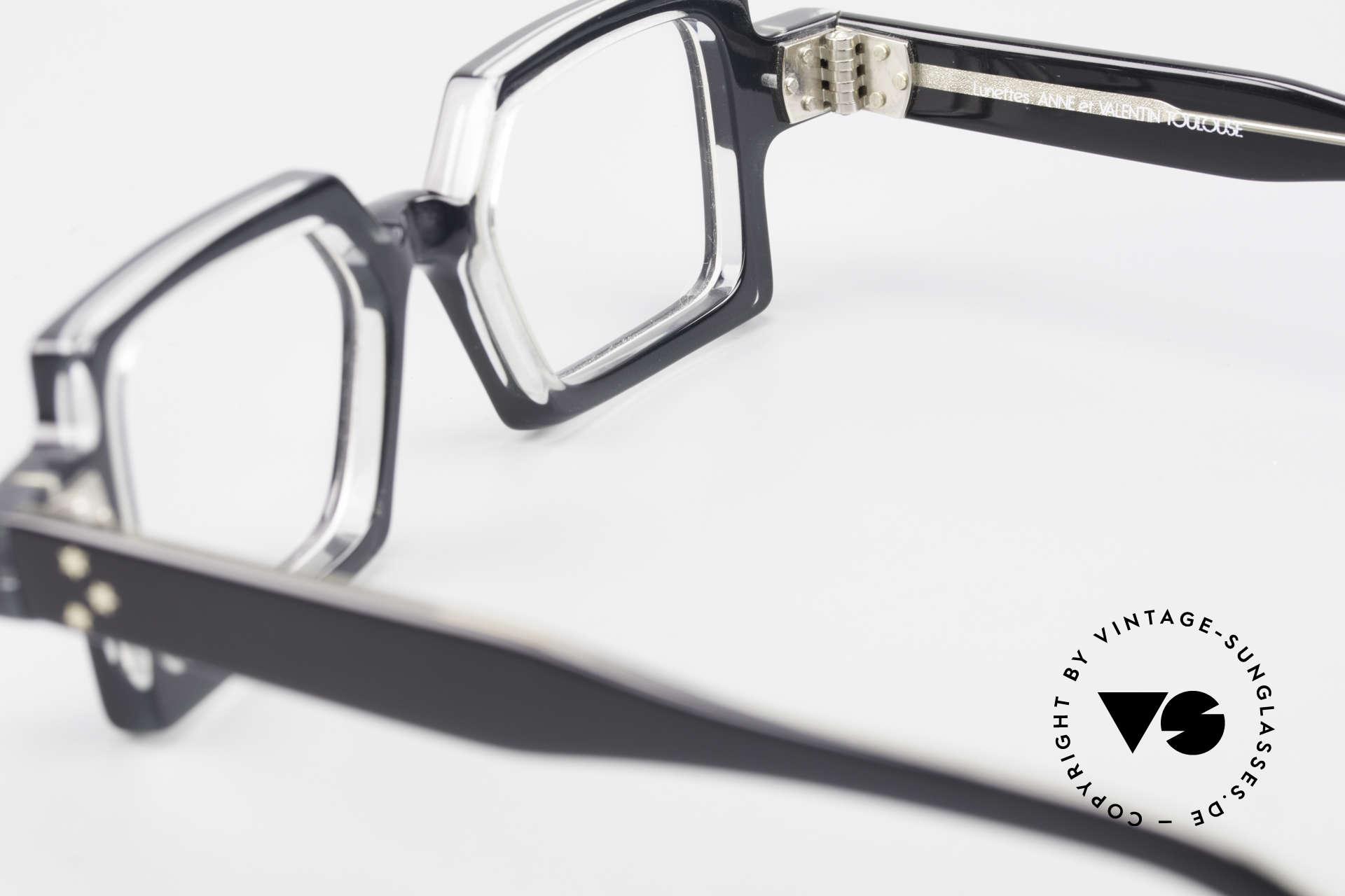 Anne Et Valentin Chico Alte 80er Brille Eckig Markant, ungetragenes Einzelstück aus den 80ern (mit orig. Etui), Passend für Herren und Damen
