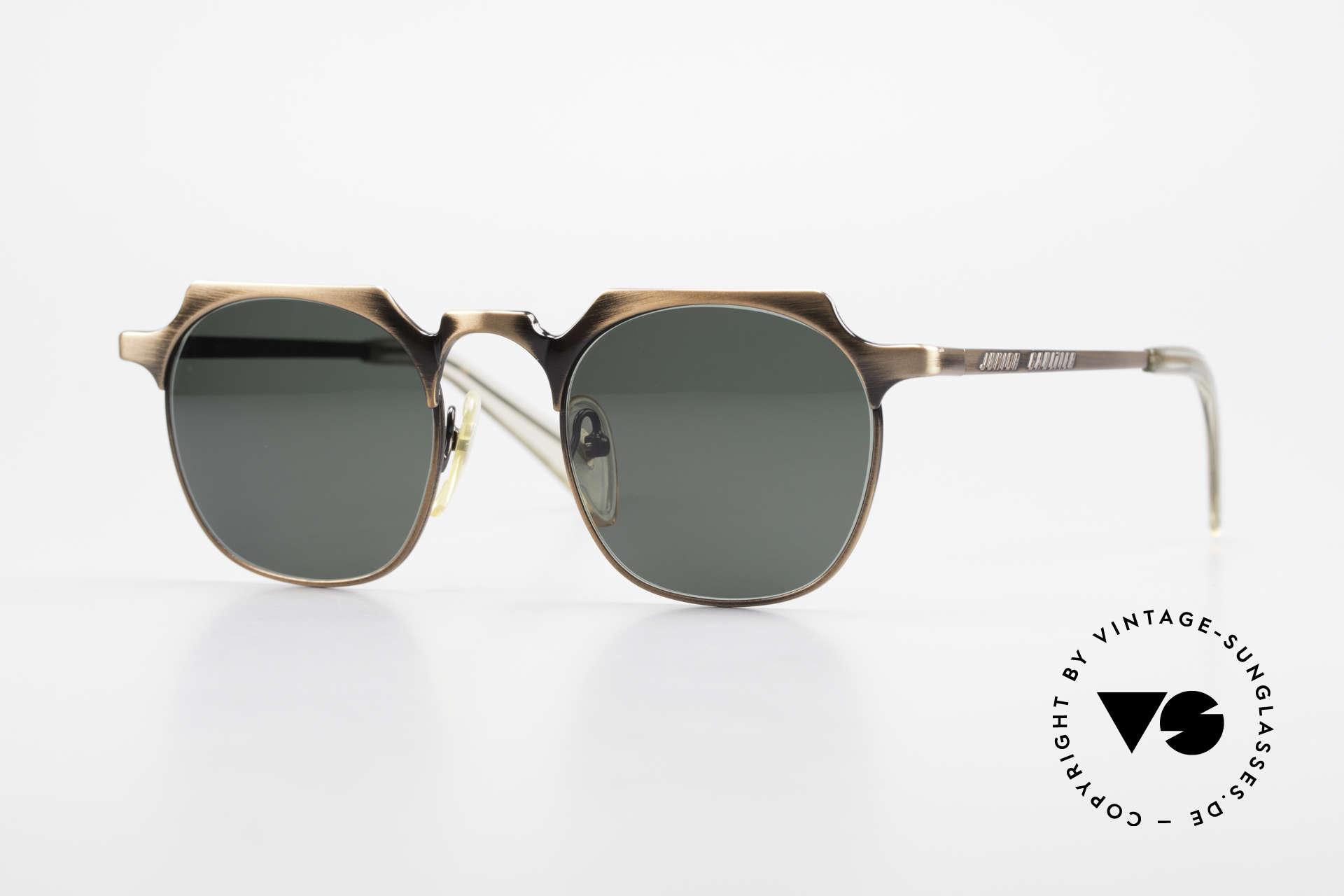 Jean Paul Gaultier 57-0171 Panto Sonnenbrille Eckig 90er, extrem edle Jean P. Gaultier vintage Sonnenbrille, Passend für Herren