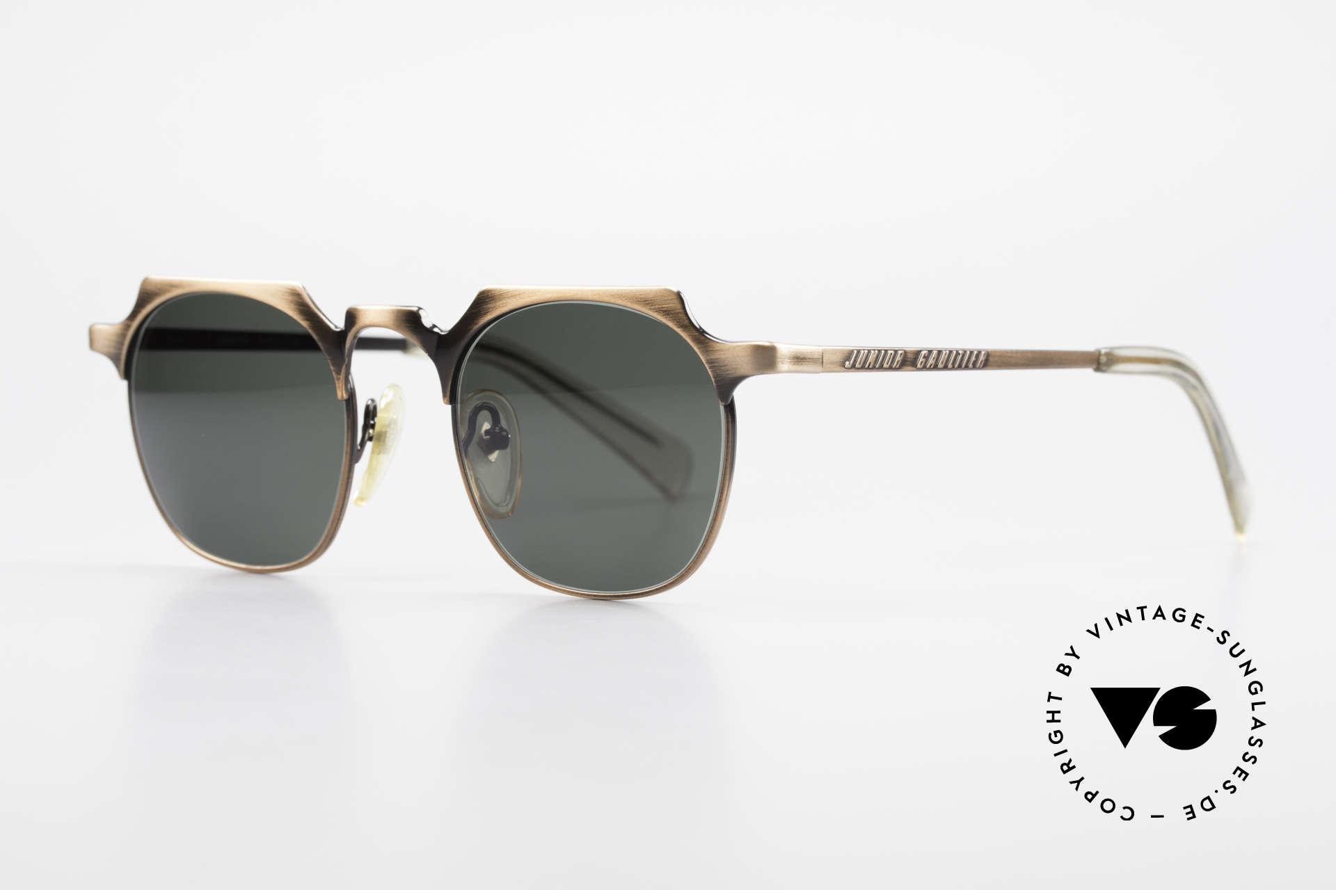 Jean Paul Gaultier 57-0171 Panto Sonnenbrille Eckig 90er, die klassische Panto-Form mal eckig interpretiert, Passend für Herren