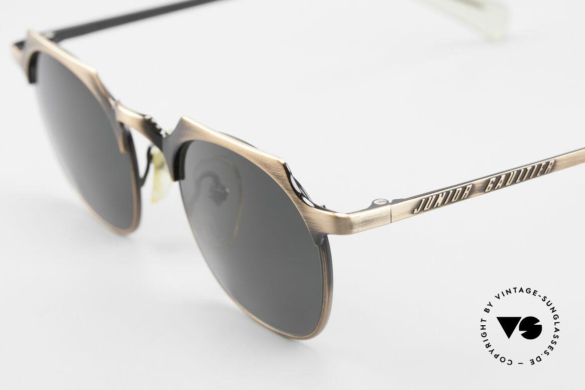 """Jean Paul Gaultier 57-0171 Panto Sonnenbrille Eckig 90er, zudem einzigartige Lackierung in """"antik messing"""", Passend für Herren"""