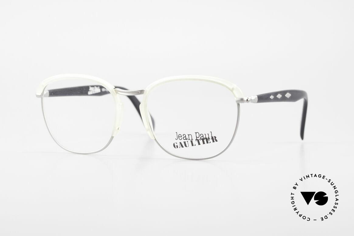 Jean Paul Gaultier 55-1273 Alte 90er Vintage Brille JPG, 1990er vintage Designerbrille von Jean Paul Gaultier, Passend für Herren und Damen