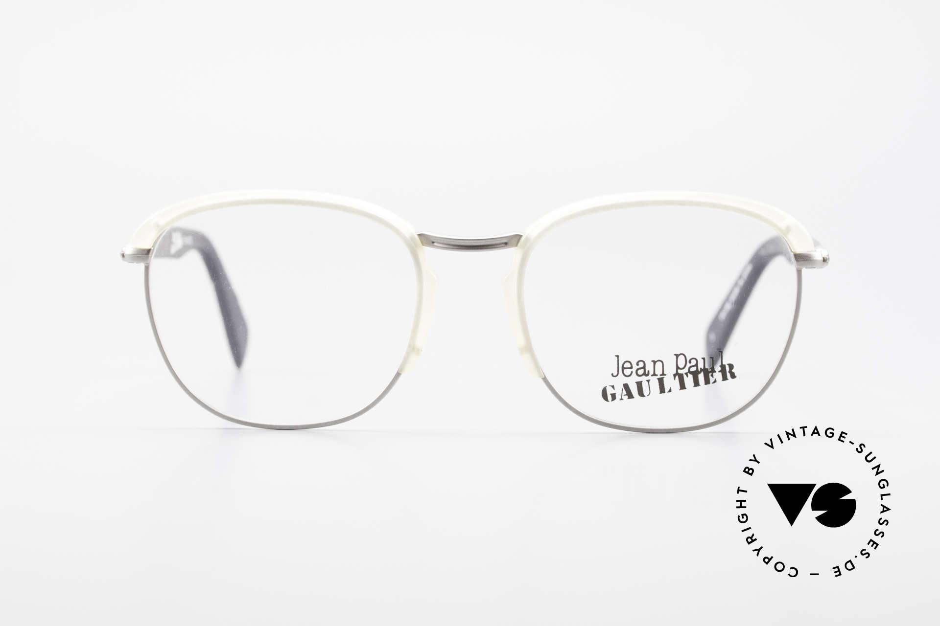 Jean Paul Gaultier 55-1273 Alte 90er Vintage Brille JPG, sehr leichter Rahmen & entsprechend hoher Komfort, Passend für Herren und Damen