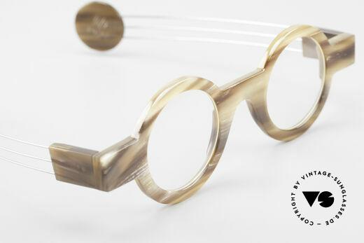P. Klenk Bold 022 Runde Hornbrille Einzelstück, echtes UNIKAT: heutzutage gar nicht mehr zu bekommen, Passend für Herren und Damen