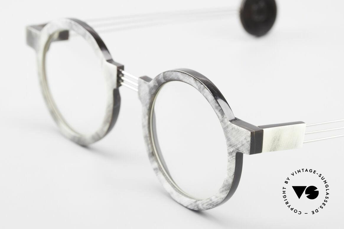P. Klenk String 027 Echthornbrille Panto Vintage, echtes UNIKAT: heutzutage gar nicht mehr zu bekommen, Passend für Herren und Damen