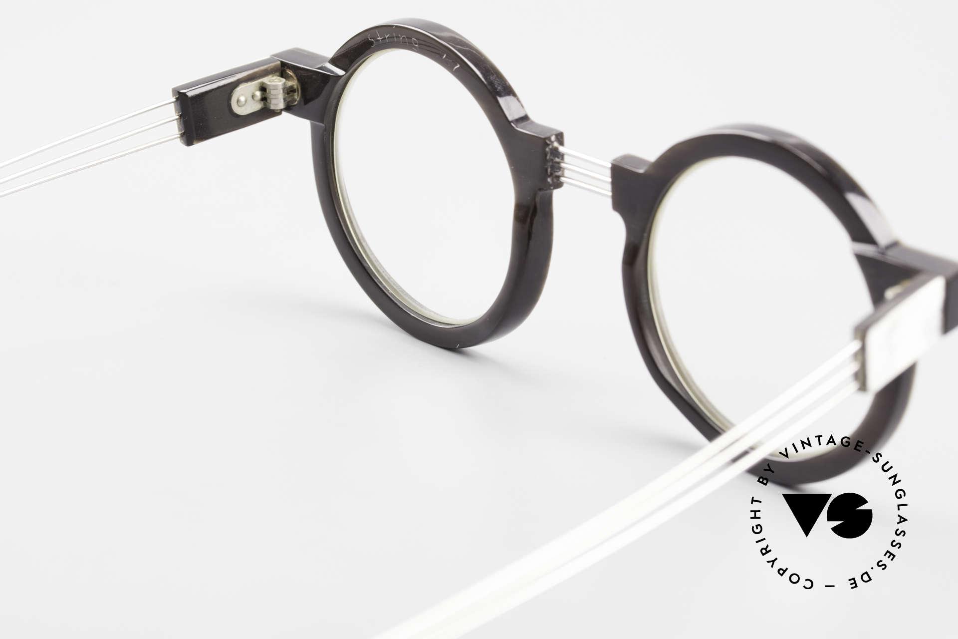 P. Klenk String 027 Echthornbrille Panto Vintage, Größe: medium, Passend für Herren und Damen