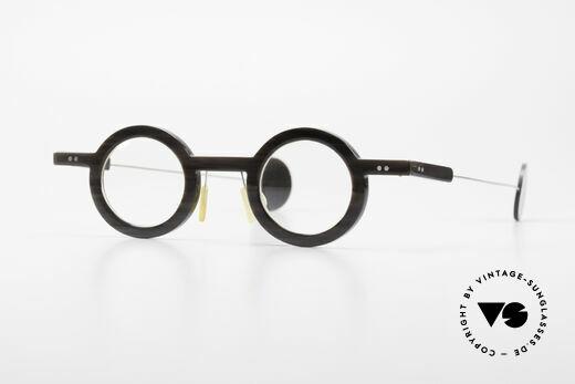 P. Klenk Rugby 014 Echthornbrille Rund Vintage Details