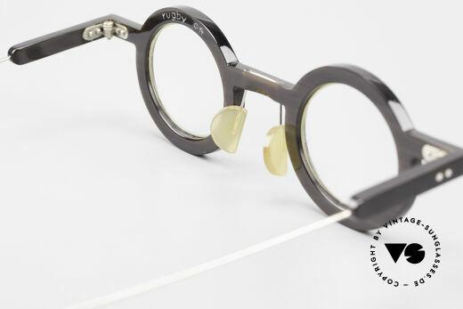 P. Klenk Rugby 014 Echthornbrille Rund Vintage, Größe: large, Passend für Herren