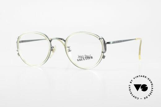 Jean Paul Gaultier 55-3271 JPG Panto 90er Designerbrille Details