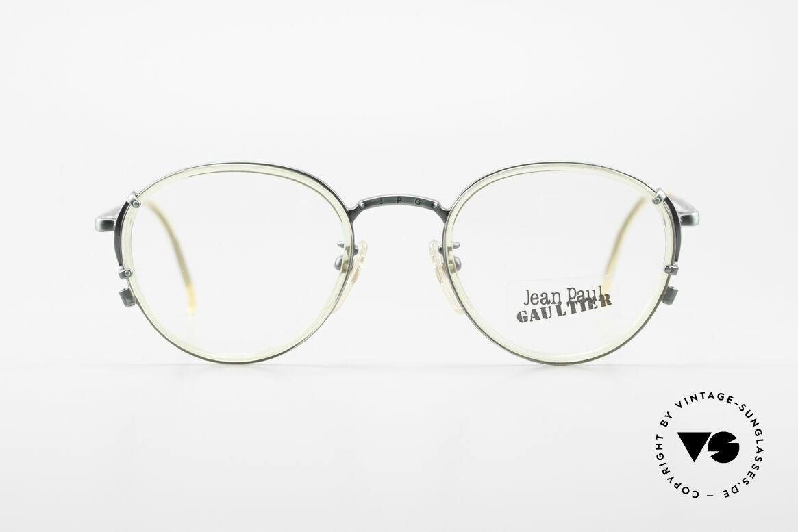 Jean Paul Gaultier 55-3271 JPG Panto 90er Designerbrille, edle Jean Paul Gaultier vintage Designer-Fassung, JPG, Passend für Herren und Damen