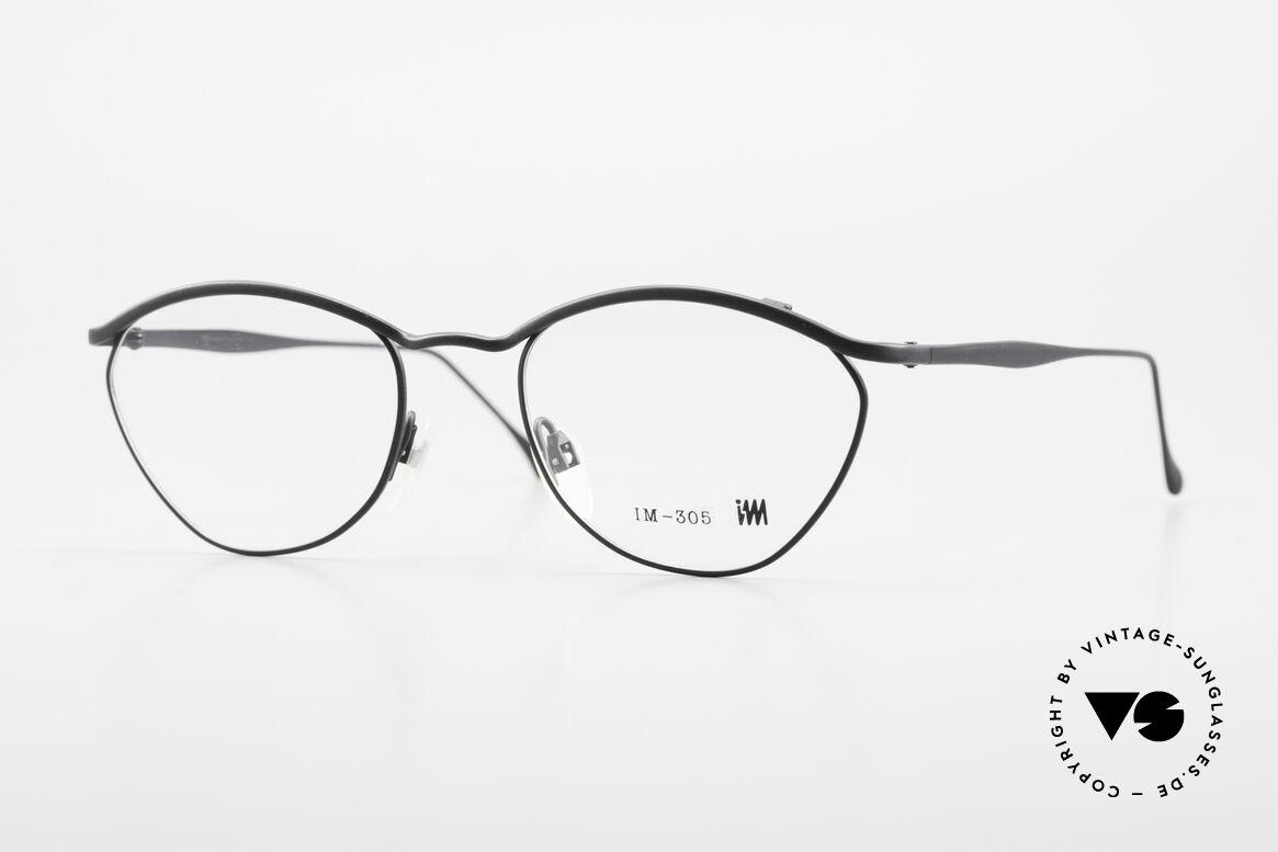 Miyake Design Studio IM305 90er Insider Brille All Titan, interessante vintage ALL TITAN-Brille von 1993, Passend für Herren und Damen