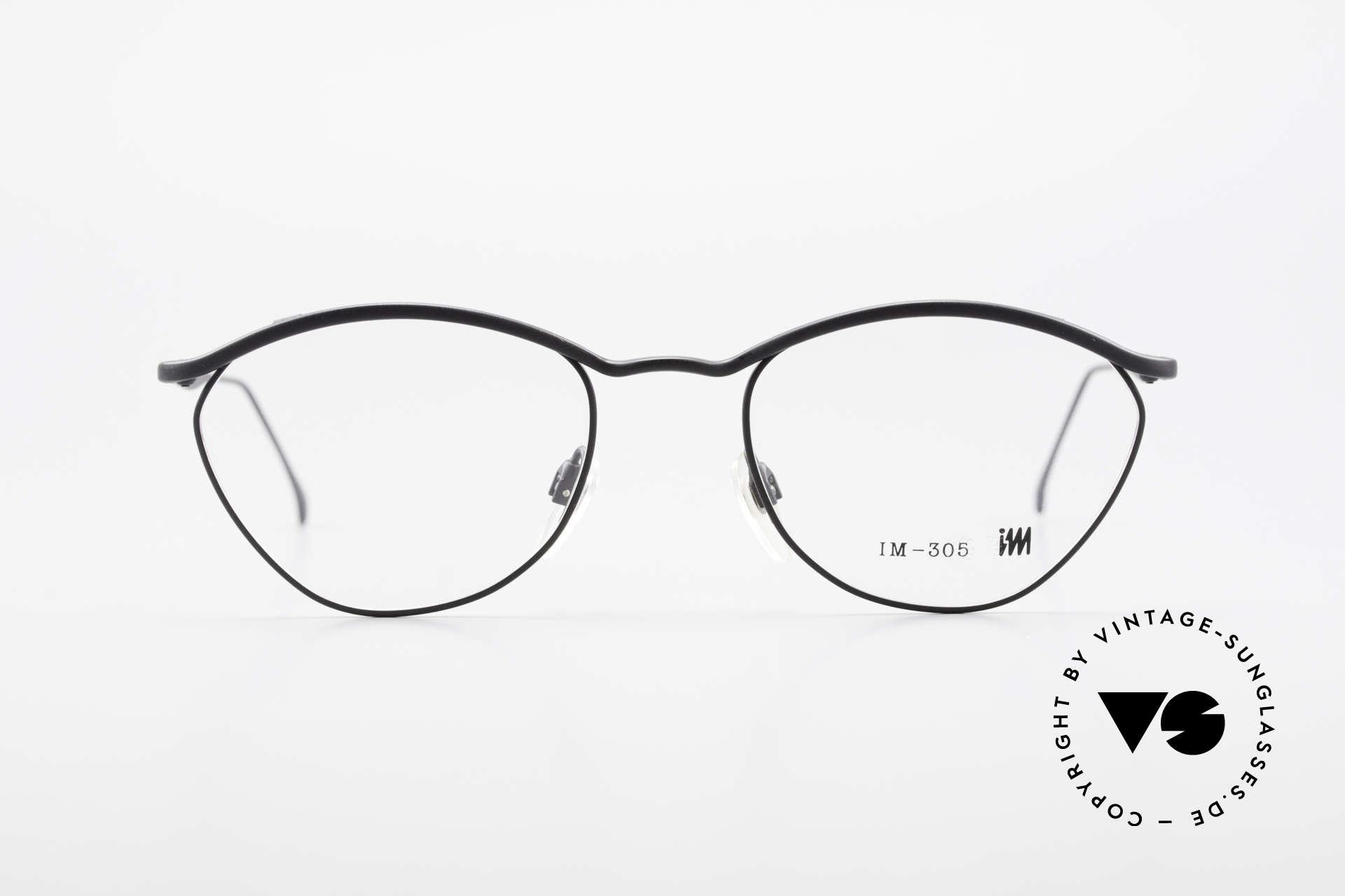 Miyake Design Studio IM305 90er Insider Brille All Titan, eine echte INSIDER-Brille ohne großes Branding, Passend für Herren und Damen