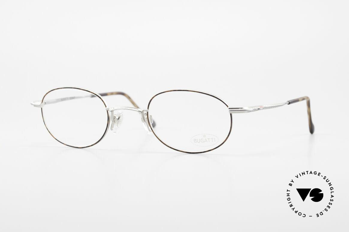 Bugatti 23547 90er Titanium Brillenfassung, äußerst elegante 90er Bugatti vintage Brillenfassung, Passend für Herren und Damen