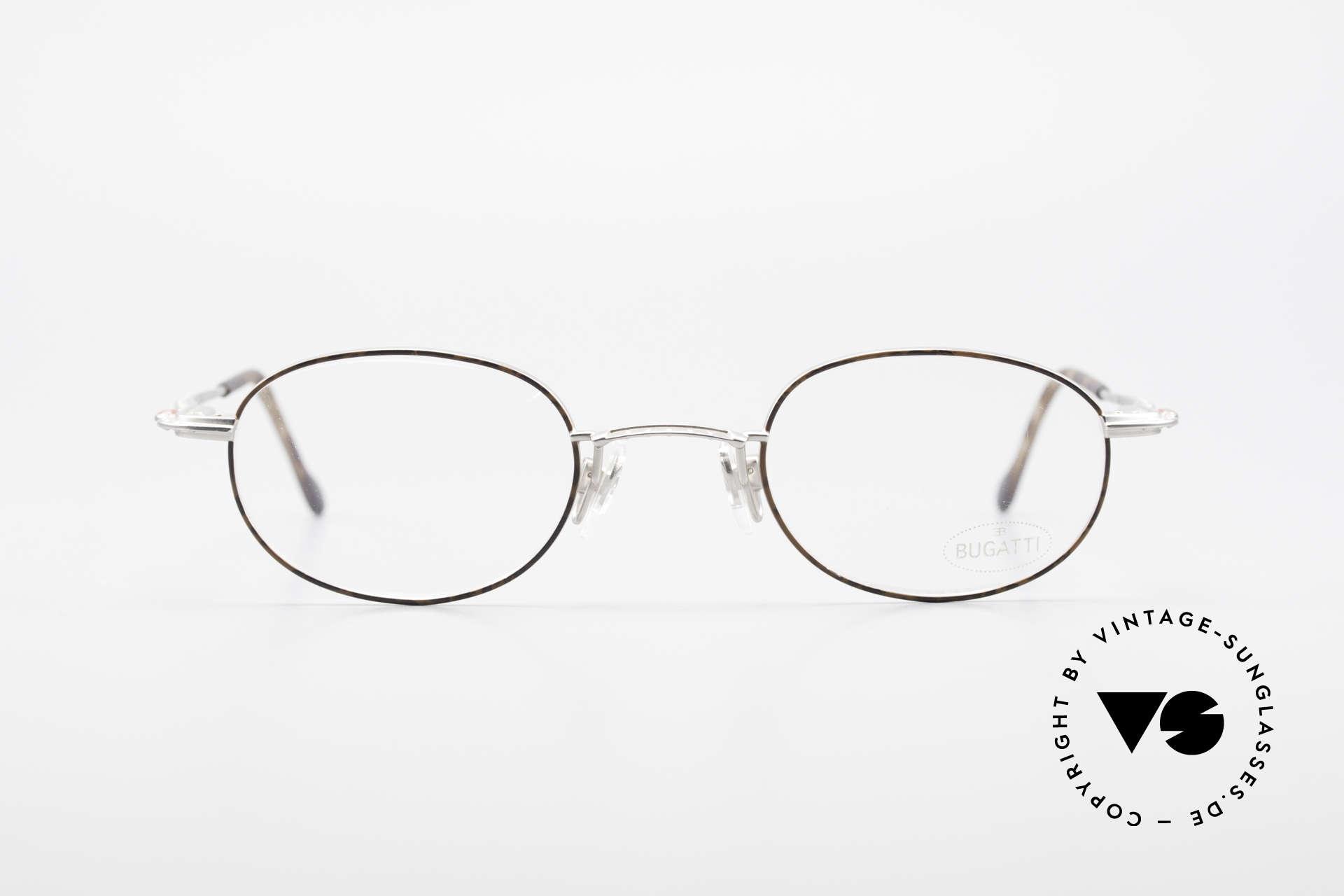 Bugatti 23547 90er Titanium Brillenfassung, beste Materialien (Titanium-Bügel) und Verarbeitung, Passend für Herren und Damen